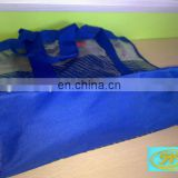 clear pvc and nylon pouch shopping bags,clear pvc shoulder bag,nylon mesh shopping bag