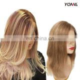 100% Peruvian #30 Virgin Hair Full Lace Wig with Baby Hair Yotchoi Blonde Silky Straight