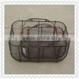 iron chicken wire egg basket wholesale with wood handle