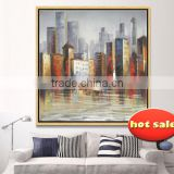 with frame Model China city styles Canvas Oil Painting with frame YB-134