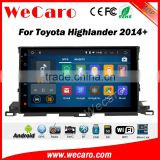 Wecaro WC-TH1022 10.2 inch android 4.4/5.1 car stero gps for toyota highlander car headrest dvd player 2014 + Wifi 3G Radio RDS