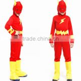 2016 hot sale boy flash superhero fancy dress Halloween costumes kids fantasy comics movie carnival party cosplay clothing