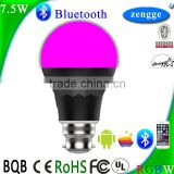 Led Bulb Light Smart Lighting 7.5w RGBW Bluetooth Led Bulb Smart Home Control System IOS/Android APP