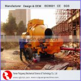 Trailer Concrete Mixer Pump Small Electric Mortar Cement Concrete Pumping Machine With Mixer