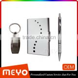 Corperation metal key chain ball point pen and card holder with customized logo