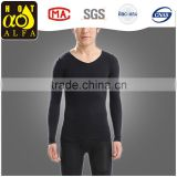 slimming long sleeve body shaper for man black color Y61