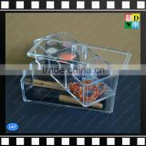 Wholesale clear acrylic makeup storage boxes,plexiglass decorative cosmetic storage boxes