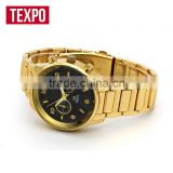 gold wrist watch women watches men ladies wholesale wristwatch men watch stainless steel back watch man