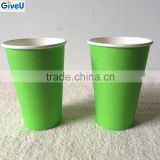 Best sales High Quality Solid Green Color Capacity 7oz Disposable Paper Cup Coffee Paper Cups
