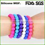 Perfect Balance Transparent Silicone Beaded Bracelet for jewellry gifts