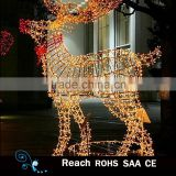 Made in China 3D led christmas motif deer/ string light Christmas deer /solar christmas deer