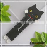 Shenzhen Supplier Eco-friendly Soft Rubber Retractable Cute Cat Cable Wire Tidy For Girl Friend