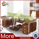 2014 newest series fresh design good quality modern office workstation office staff desk M6585