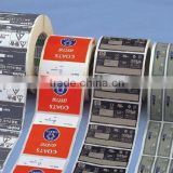 OEM printing adhesive tags/ hang tags/sticker/ barcode label/ labels/ self-adhesive labels