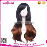 Top selling high quality synthetic black wig for women