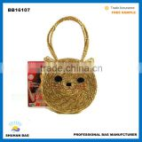 2016 fashion beach bag cat straw bag hot sales straw hand bag for women