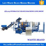 2016 alibaba trade assurance QT4-25 hydraulic fully automatic simple block making machine line