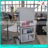 Lab touch screen argon sintering vacuum tube furnace with gas controller and water chiller