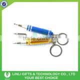 Logo Engraved Mini-Screwdriver Kit With Keychain