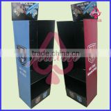 Wall display racks with shelf and hooks /Wall Mounted Vertical paper display Peg Cardboard Unit Display