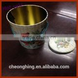 Color printing Round Shape Metal Bucket Tin Can