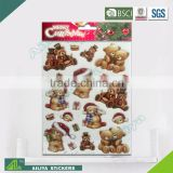 BSCI factory audit Christmas 3D Eco-friendly decorative removable baby wall art stickers