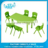 Children table and chair used kindergarden or preschool