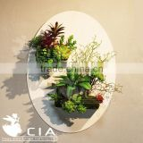Best Sell Artificial Wall Decor Art Artificial Plants with Unique Wall Decor Planter