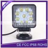 "Ultra bright Waterproof IP68 worklight square 27W 4"" led work light for heavy duty                                                                         Quality Choice"