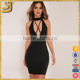 Women's Sexy Cutout Sleeveless Club Party backless Bodycon Dress                                                                         Quality Choice