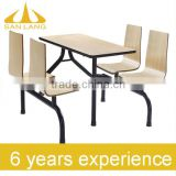 SANLANG restaurant furniture for restaurant decoration Fast Food Restaurant Wooden modern style 42-001L