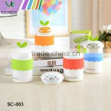 Travel Mug Cup With Silicone Lid Cover Cap Sets