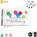 Happy birthday music greeting card with sound module