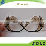 custom design party supply glitter powder masquerade party mask for birthday party decoration