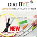 Dirt BYE Cleaning Tool 6Color Plastics made with Coffee/ECO - Plastics Use/Dehumidification/Deodorization Removal/lid/groove/cra