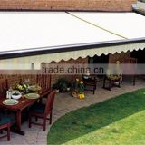 Retractable polyester fabric door awning remote control with powder coated aluminum frame                                                                         Quality Choice