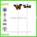 Garden Butterfly And Metal Dragonfly Decoration Stake