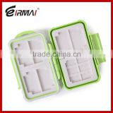 Colorful Plastic memory card storage box SD TF MSD