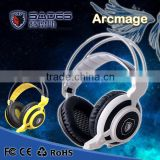 2015 New Sades Arcmage Gaming Headset Stereo Bass Headphone Earphone With Microphone For Computer Gamer USB 3.5mm Gold-Plated                                                                         Quality Choice