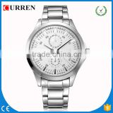 CURREN/CW034 Hot Sale China full stainless steel Watch Men Casual quartz Watches New SALE Military Wristwatch waterproof