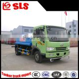 Manual transmission type FAW 5000 liters water tank truck, watering truck, watering cart