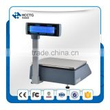 USB 30 kg electronic retail Weighing Scales price With label barcode printer to weigh fruits and vegetables --HLS1000