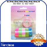 6 pcs Macaron Corlor Shifting Iridescent Mini Tape Blister Card Packing with Tape Dispenser