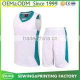 New design basketball uniform sublimation printing team logo men's basketball jersey