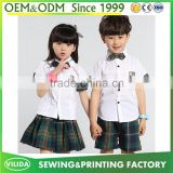 England style kindergarten uniform fashion primary school sport uniform shirt with skirt or shorts