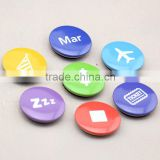 different logo design set mini round button badge tin magnet for fridge