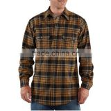 Mens double pockets red check flannel shirt wholesale check cotton plaid flannel shirt mens flannel shirts
