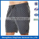 2016 hot selling high quality beach shorts mens swim wear board shorts with full dot pattern