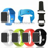 Wholesale for apple watch silicone band with metal adapter, alibaba express