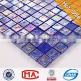 2L best selling dark blue iridescent glass mosaic cheap clear mosaic tiles price in india wall tiles mosaic decoration